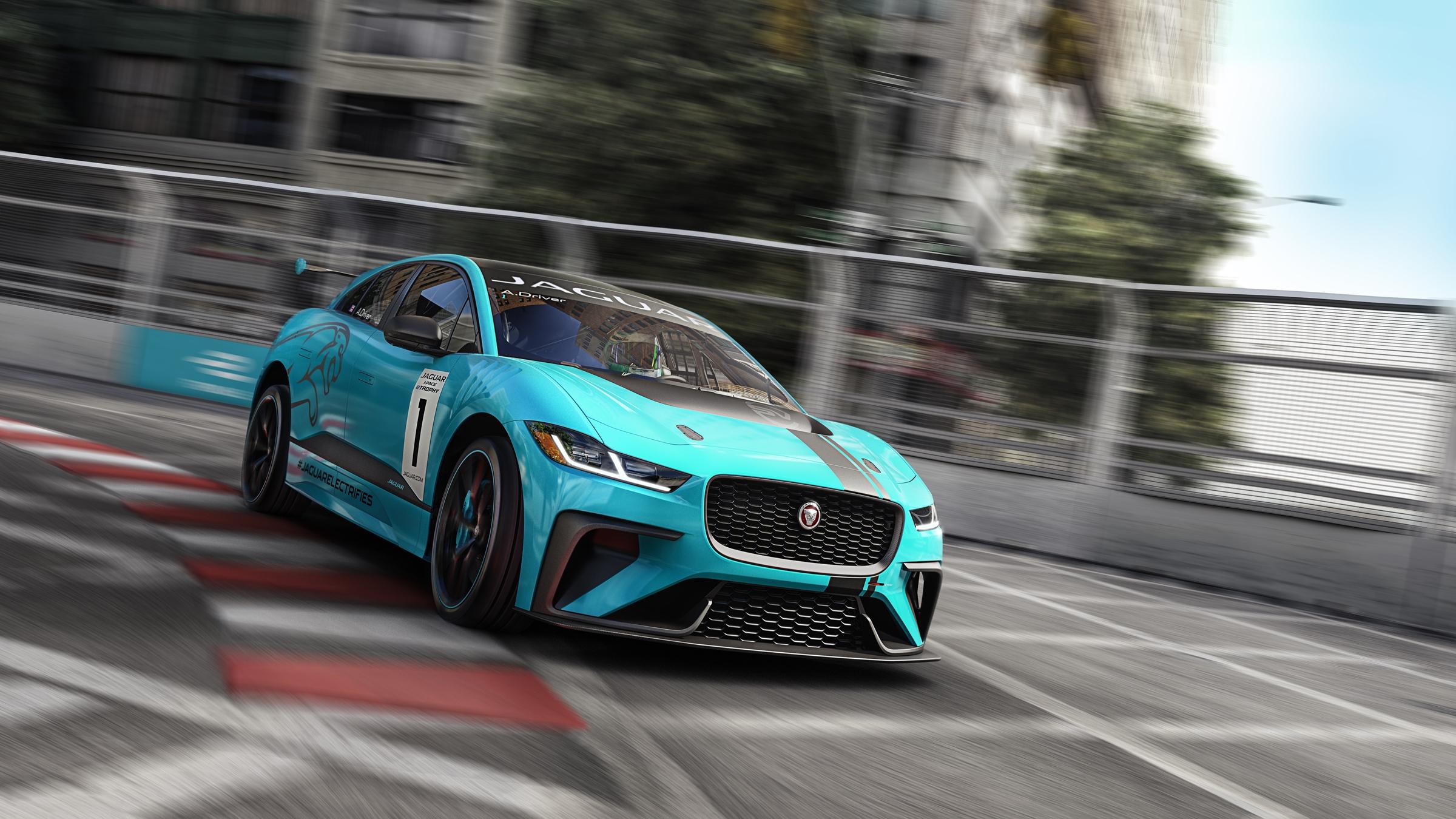 Jaguar I-PACE eTROPHY racecar track (2)